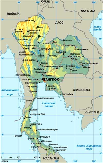 Карта тайланда от мансаны