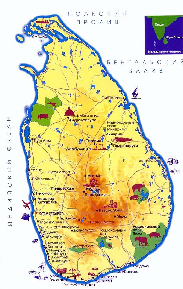Карта шри ланки от мансаны