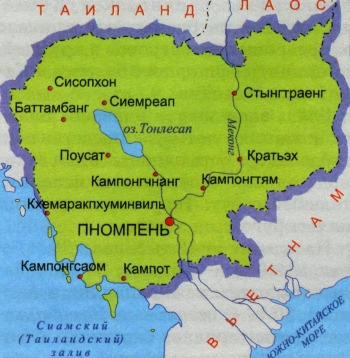 Карта Камбоджи: МАНСАНА, Киев / Украина: http://www.mansana.com/cambodia/map.html