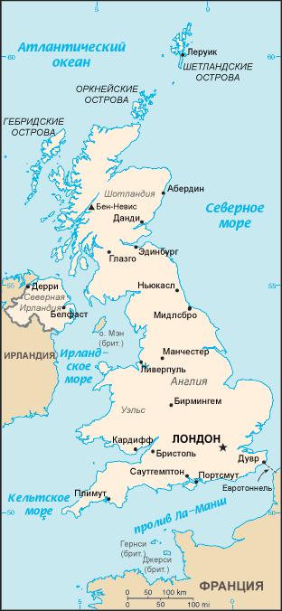 Карта великобритании от мансаны